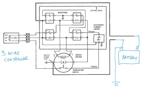 two solenoid winch wiring diagram 2 solenoid winch wiring