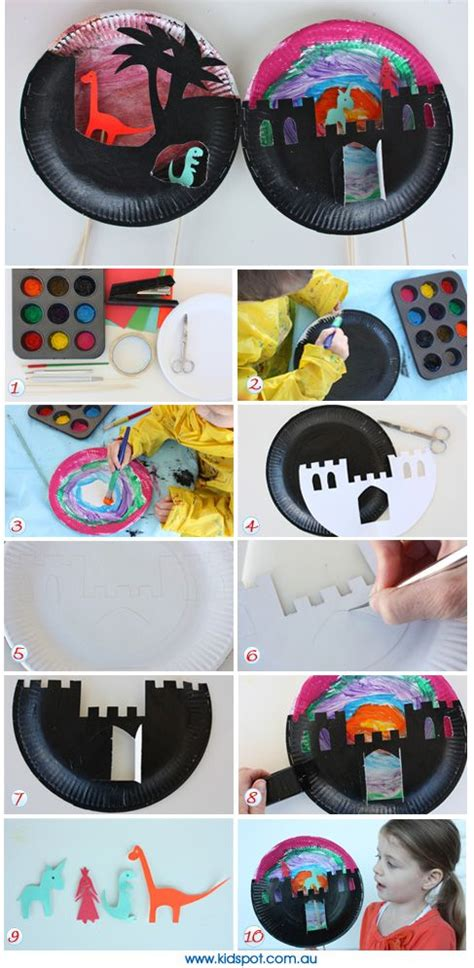 paper plate puppet theatre crafts activities and plates