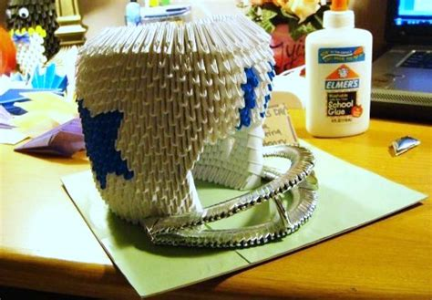 3d Origami Football - 3d origami football helmet by sabrinayen on deviantart
