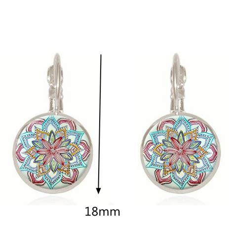 Retro Earring bohemian retro earrings copper flower vintage earrings