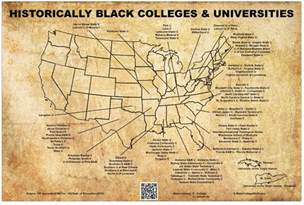 map of historically black colleges and universities hbcu