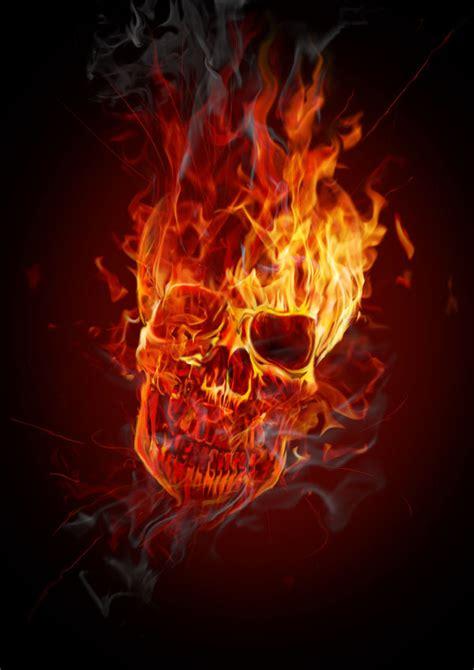 imagenes de calaveras en llamas 3d calavera en llamas excelente con photoshop taringa