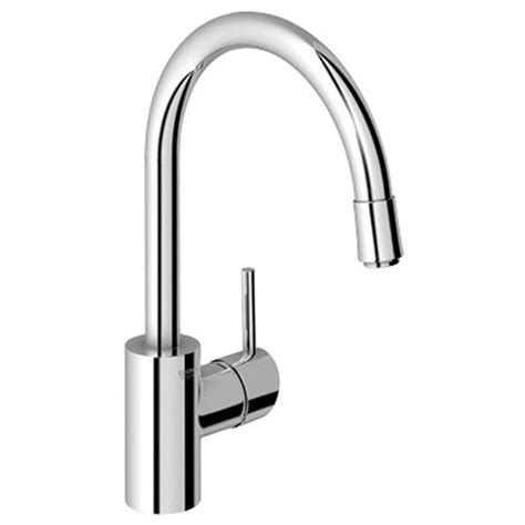 grohe concetto kitchen faucet grohe concetto single handle pull sprayer kitchen faucet in starlight chrome 3134900e the