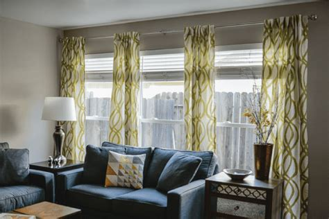 Hanging Curtains High And Wide Designs How To Hang Curtains A Tutorial Hey Let S Make Stuff