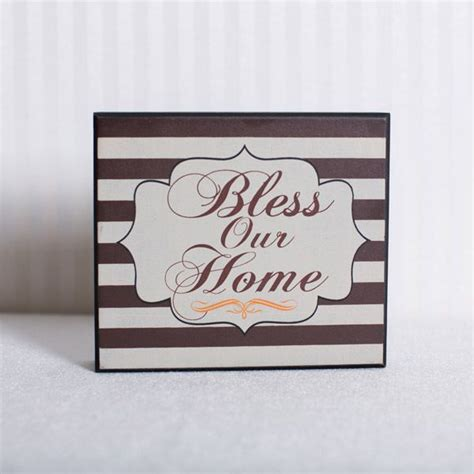 xx wood brick bless  home multi color