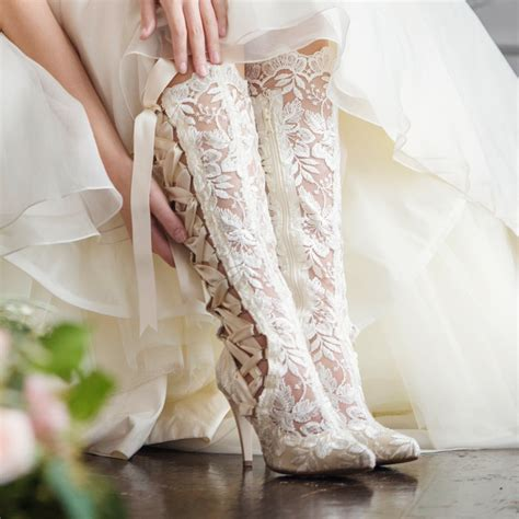 Schuhe Ivory Spitze by Classic Lace Wedding Boot Collection From House Of Elliot