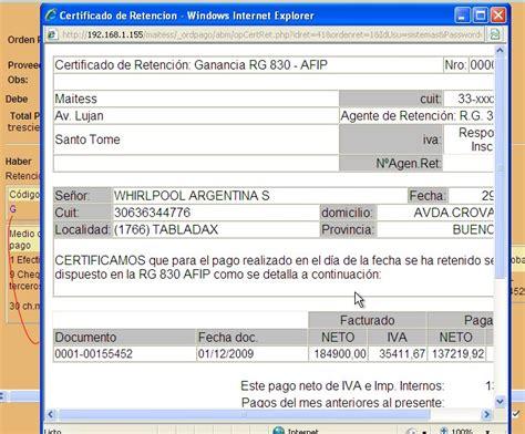 como conseguir comprobante de retencion 2014 como generar un certificado de pago y retencion colectivo