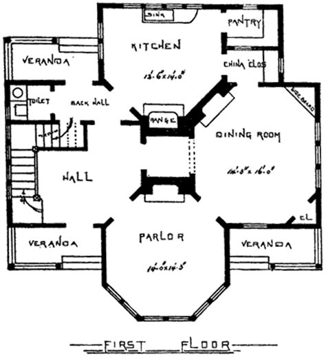Victorian Floor Plan by Farmhouse Plans Victorian House Plans