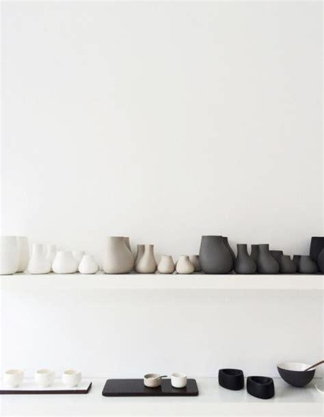Black And Grey Vases Ceramics Pots Bowls Plates Vases White Black Grey