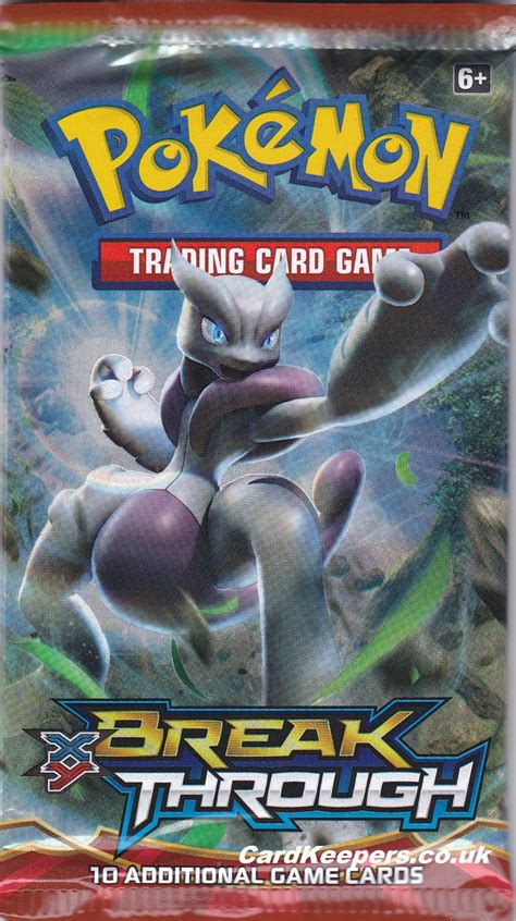 Gift Card Pack - pokemon cards xy break through booster pack mega mewtwo x new sealed