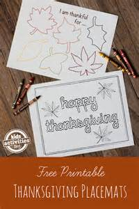 free printable thanksgiving placemats 10 ways to help kids say thank you on thanksgiving