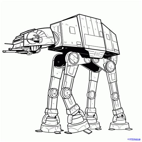 Star Wars At At Coloring Page | step 11 how to draw an imperial walker imperial walker