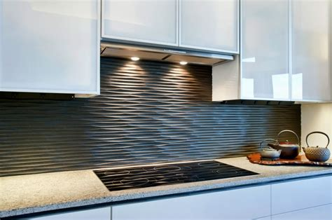black backsplash in kitchen black graphic wavy kitchen backsplash design olpos design