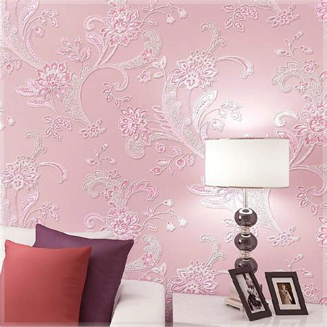 floral wallpaper for walls floral wallpaper 5 colors pastoral embossed 3d foaming