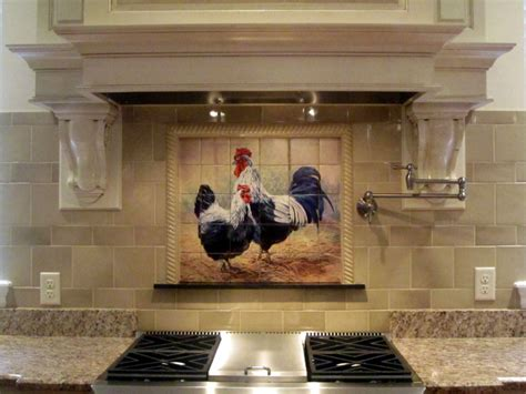 kitchen murals design rooster tiles kitchen backsplash tiles black rooster