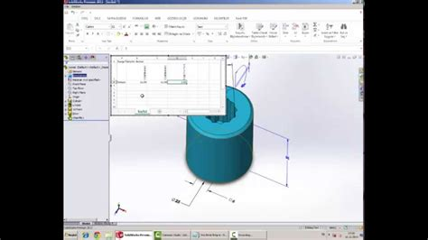 solidworks tutorial design table solidworks design table youtube