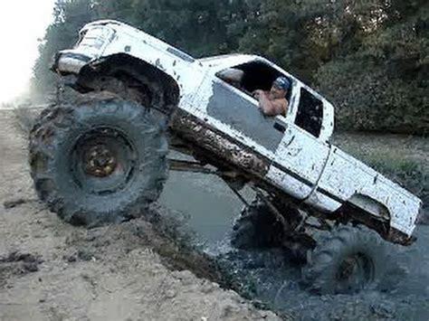 mud truck chevy silverado   tractor tires climbs
