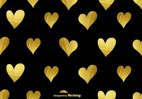 gold heart pattern vector golden hearts seamless pattern download free