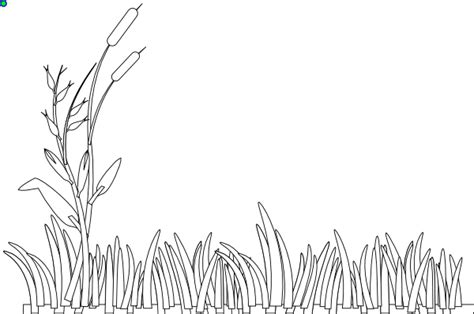 coloring page for grass grass outline clip art at clker com vector clip art
