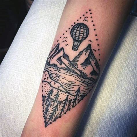 hot tattoos designs for men 70 air balloon designs for basket of