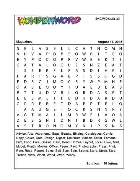 printable wonderword puzzle magazines