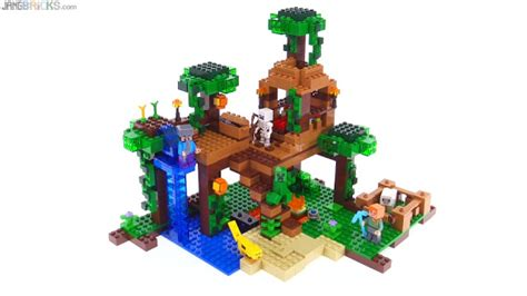 minecraft lego house lego minecraft jungle tree house review 21125