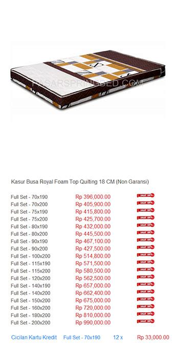 Kasur Busa Wealthy Foam kasur busa royal foam harga bed termurah di indonesia
