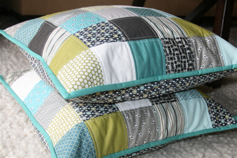 How To Make A Patchwork Cushion - home decorating abode living