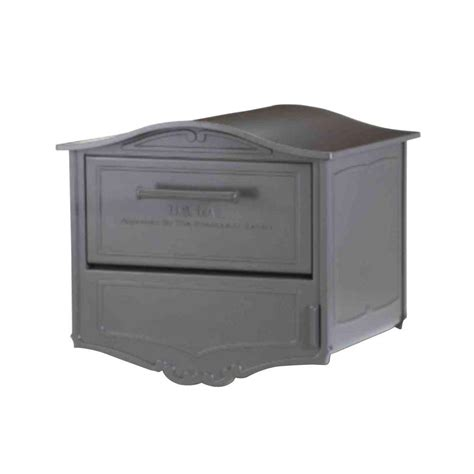 architectural mailboxes geneva bronze post mount locking