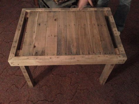pallet wood end table recycled wooden pallet end tables recycled things