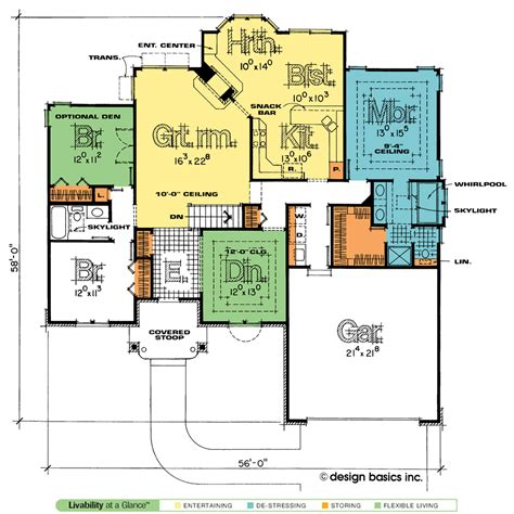 home design basics sinclair 1748 traditional home plan at design basics
