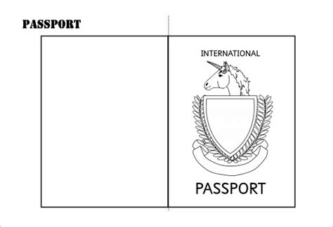 passport template make your own passport template gallery template design