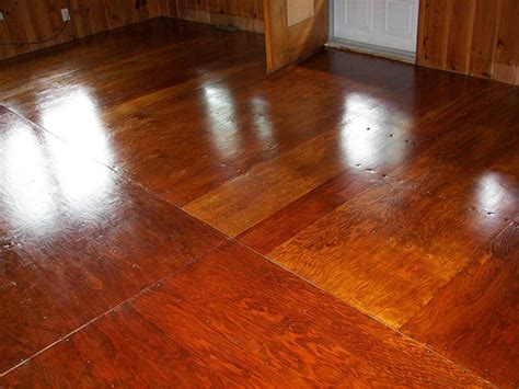 Stained Plywood Floor by Second Coat Of Polyurethane