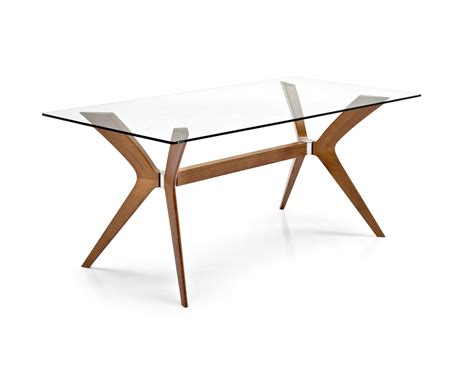 Glass Dining Room Table Tops tokyo glass and wood rectangular table calligaris cs 18