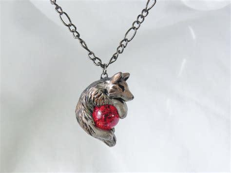 wolf necklace pendant rear view mirror dangle charm unique