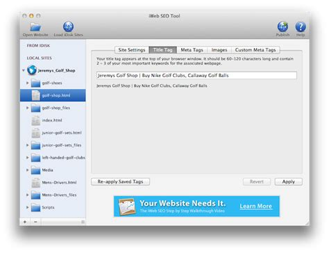 Your Search Top Search Engine Rankings For Your Iweb Website Iweb Seo Tool For Mac Os X