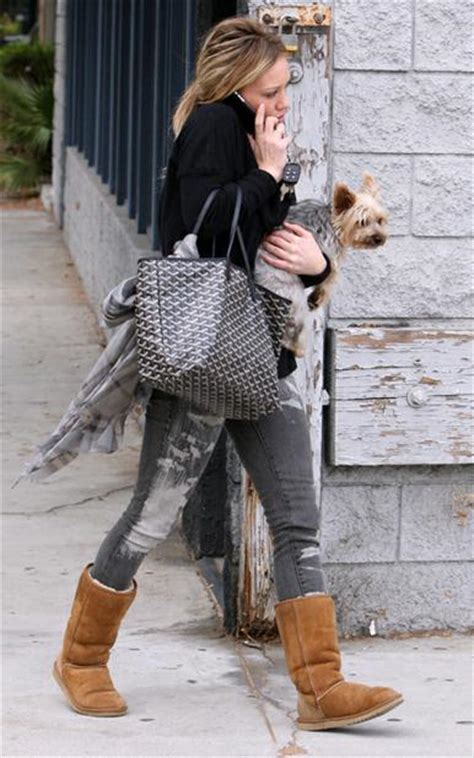 Get Look Hilary Duffs Surlygirl Producer Purse by Base Shaper Bag Liner For Goyard St Louis Mm Purse Tote