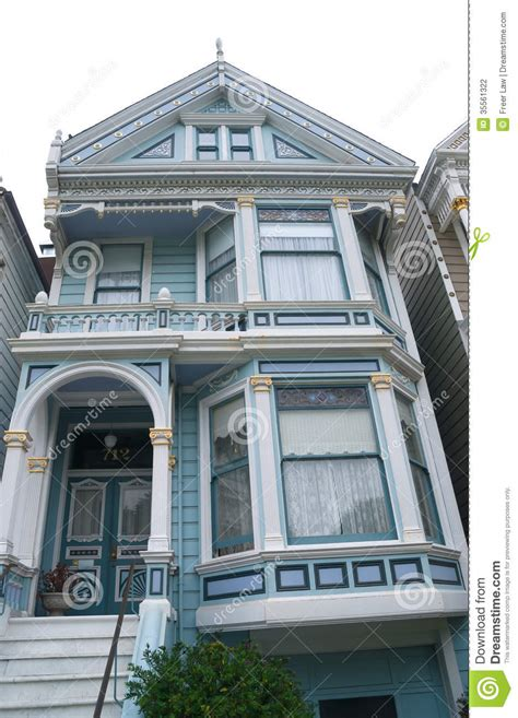 Victorian House Plan historic victorian home in san francisco stock photography