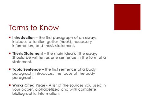 Opening Paragraph For An Essay by The Essay Ppt