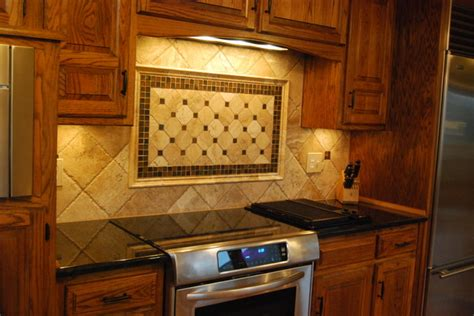 travertine tile backsplash black pearl granite