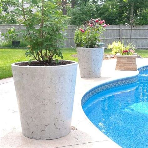 large concrete planter large concrete planters hypertufa concrete cement