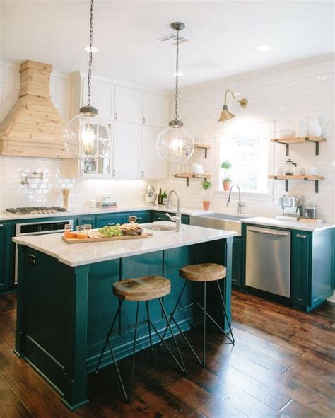turquoise kitchen ideas 14 colorful kitchen island ideas the turquoise home