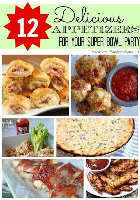 12 delicious appetizers for your super bowl party