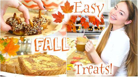 easy fun diy fall treats youtube