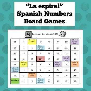 printable spanish board games spanish numbers board game by exploring french and spanish