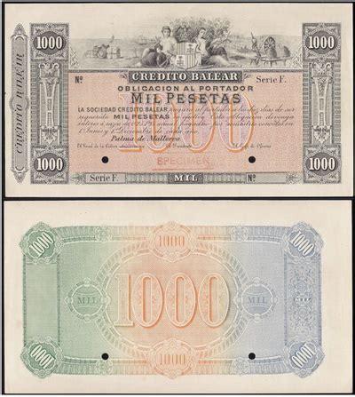 banco de credito balear el papel moneda del cr 233 dito balear numismaticodigital