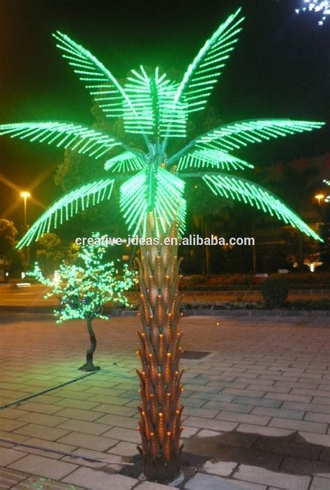 Outdoor Light Up Palm Tree Outdoor Led Lighted Palm Trees For Landscape Led Artificial Tree Decorations Buy Led Lighted