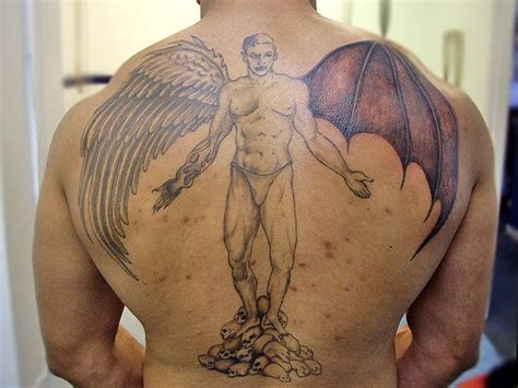 tattoo half angel half devil 28 best half angel half demon tattoo images on pinterest
