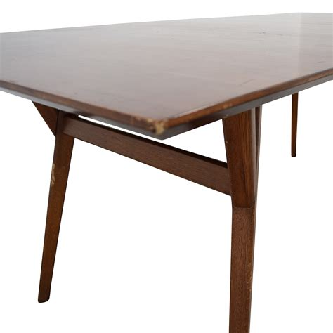 mid century expandable dining table elm 63 elm elm mid century large expandable
