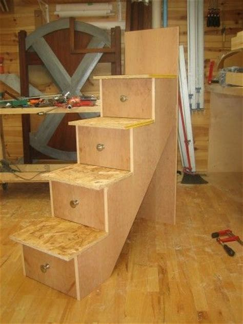 Bunk Bed With Drawer Stairs How To Make Drawer Pull Bunk Bed 6 Building The Stairs And Installation By